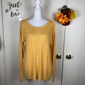 AEO CABLE KNIT SWEATER LONG SLEEVE ZIPPERS XXL